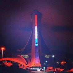 Stade olympique de Montréal pour Paris (14 novembre 2015 au lendemain des événements)