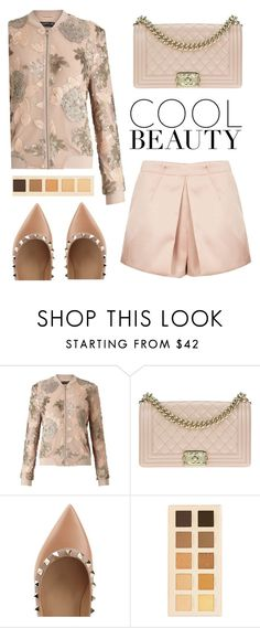 """""""Untitled #490"""" by amchavesj-1 ❤ liked on Polyvore featuring Miss Selfridge, Chanel, Valentino, LORAC and bomberjackets"""