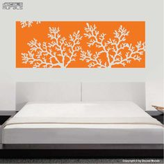 Vinyl decal CORAL REEF HEADBOARD Wall art stickers interior decor by Decals Murals (King). $79.99, via Etsy.