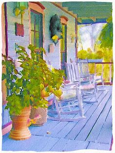 This is absolutely beautiful - so serene.  Porch
