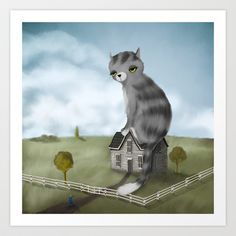 The House Cat Art Print by Dale Keys - $18.00