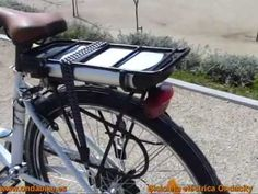 #Bicicleta €eléctrica modelo Ondacity marca Ondabike (1).  Vista panorámica de las #bicicletas #eléctricas modelo Ondacity1 (para señora), y modelo Ondacity2 (para caballero) de la marca Ondabike. Los dos modelos son idénticos con la excepción de la barra central. En el video el modelo caballero incorpora una silla de niño en el portaequipajes (puede soportar hasta 70kgs).