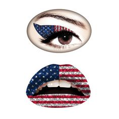 Americana Set, temporary makeup tattoos from Violent Lips.  Smudge-proof and waterproof $18.50