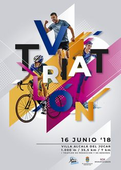 Poster for Triatlón Alcalá 2018