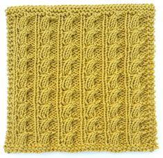 Corn Stalks Stitch loom knit
