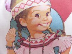 2X Lot Indian Bead Native American 70's Die Cut Vintage Valentine Card   eBay