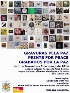 Maria Pinto - arte: Gravuras pela Paz - Parque da Água Branca - SP