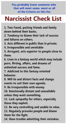 beware the abusive narcissist!