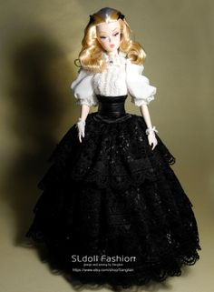 lace blouse and lace skirt  for Silkstone Barbie and by Sanglian, $82.00