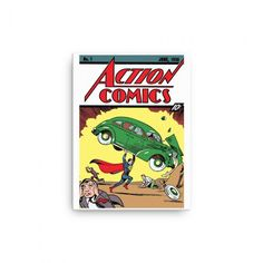 Guaranteed to brighten up any comic fans wall! Top Quality canvas with image from first ever Action Comics. You might not be able to afford the first edition Action Comics, but maybe this Superman Canvas is the next best thing! Superman Action Comics, Fawlty Towers, Only Fools And Horses, Wall Fans, Back To The Future, Canvas Prints, Retro, Image, Top