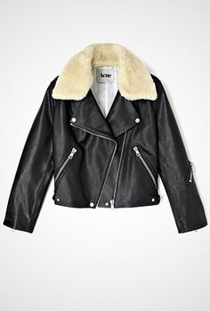 Acne Black Rita Leather Jacket - Fashionstreet.no ($500-5000) - Svpply
