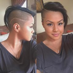Shaved Side Hairstyles, Oval Face Hairstyles, Mohawk Hairstyles, Short Hairstyles For Women, Wedding Hairstyles, Shaved Hair Women, Half Shaved Hair, Very Short Hair, Short Hair Cuts