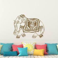 Elephant Boho Home Wall Decal - Wall Art Decor Beautiful Elephant