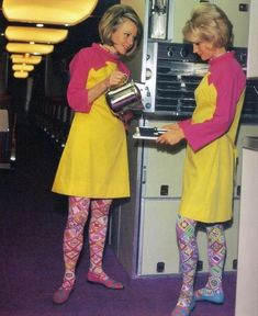 Braniff Airlines stewardesses in their Pucci uniforms, Mid 1960s.