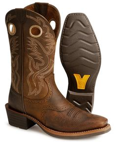 125ffc0324c Ariat Heritage Roughstock Cowboy Boots - Square Toe Western Boots For Men