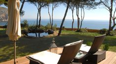 Terrace at Hotel Can Simoneta, Mallorca, Spain