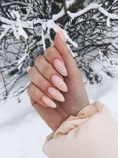 Nude nails Nude nails You are in the right place about Almond nails silver Here we offer you the most beautiful pictures about the Almond nails purple you are looking for. When you examine the Nude nails part of the picture you can get the Almond Acrylic Nails, Summer Acrylic Nails, Best Acrylic Nails, Summer Nails, Almond Nails Pink, Almond Nails French, Almond Nail Art, Spring Nails, Classy Nails