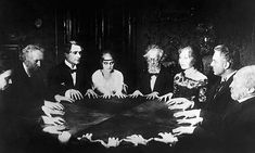 "Have any of you all ever conducted a seance or played with a ouija board? Ive done a seance once, and a loud noise went off as soon as we ""conjur Ouija, Winchester, Occult Art, The Occult, Mystique, Macabre, Paranormal, Dark Art, Vintage Photos"