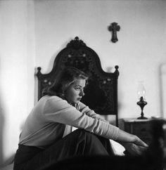 Ingrid Bergman on location for the film <i>Stromboli,</i> in 1949.