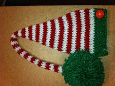 Crochet Christmas elf hat