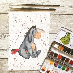 """I made this little guy - who doesn't know him? It is again a birthday card for a good friend. You can find the templates (""""Malvorlagen"""")…"""