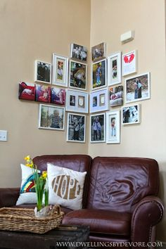 Bedroom, over the bed, if you keep it in the corner...Corner Gallery Wall                                                                                                                                                                                 More