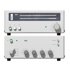 Braun amp+tuner © computer images Thomas-Mathias Bock