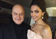 Deepika and Anupam Kher