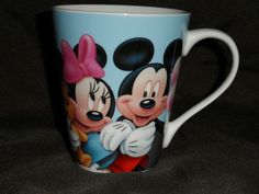 Disney Mug Mickey and Minnie Mouse New Coffee Tea Glass Cup Carnival Fair #Disney
