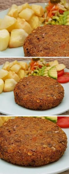 Linsenburger A healthy and delicious option! … – Heal… Linsenburger A healthy and delicious option! Veggie Recipes, Vegetarian Recipes, Healthy Recipes, Salada Light, Vegan Books, Easy Cooking, Good Food, Food And Drink, Lunch