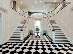 Twin Home Staircase... OMG this is exactly what I want!!!!!! Thank you pinterest!