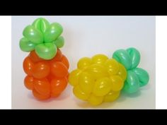 How to make a small pineapple from one orange and one green balloon (260 and 160). Good luck! :)