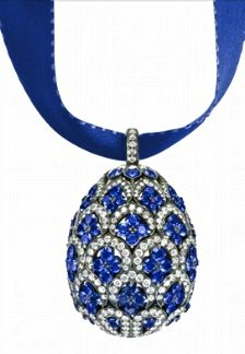 "A very Happy Holiday Season and Thank You to all my wonderful ""Sapphires, Sapphires & More Sapphires"" Followers ~ Cinda   ~ Faberge Sapphire Pendant"