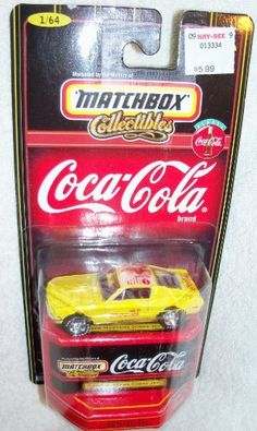 Matchbox Collectibles - Coca-Cola 1968 Mustang Cobra Jet 1:64 Scale by Matchbox. $10.75. Matchbox. Mustang Cobra Jet. Coac-Cola. 1:64 Scale. Featured here is the 1968 MUSTANG COBRA JET from the 1998 Matchbox - Coca-Cola collection.