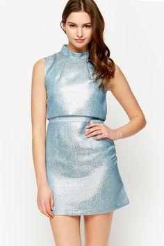 Metallic Overlap Dress @ Everything5pounds.com