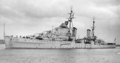 """""""HMS SIRIUS"""" (82) a (485') Dido Class Light Cruiser -Commissioned: 6 May 1942 – Crew: 480 Officers & Ratings – Armament: 10 x 5.25 Inch (133mm) QF Gunns (5 Twin Turrets) 8 x 40mm Pom-Pom AA Guns (2 Quad Mounts) 8 x .50 cal Vickers Machine Guns (2 Quad AA Mounts) 6 x 21 Inch (533mm) Torpedo Tubes (2 Tripler Launch Tubes) Paid Off in 1949 and Scrapped: 15 October 1956 Portsmouth Dockyard, Heavy Cruiser, Merchant Navy, Navy Marine, Royal Marines, Navy Ships, Aircraft Carrier, Royal Navy, Battleship"""