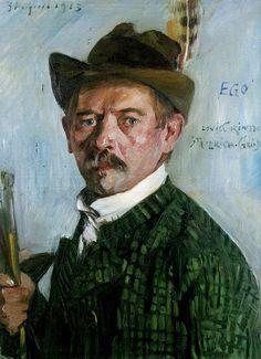 Self portrait with Tyrolean hat (Selbstporträt mit Tiroler Hut), Lovis Corinth