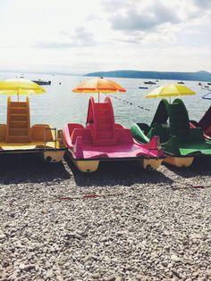 Pedalboat in Croatia Outdoor Furniture, Outdoor Decor, Sun Lounger, Beach, Holidays, Lifestyle, Home Decor, Croatia, Chaise Longue