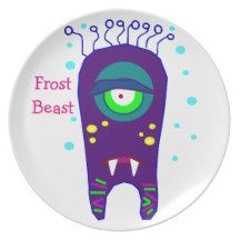 Frost Beast Monster Kids Plate