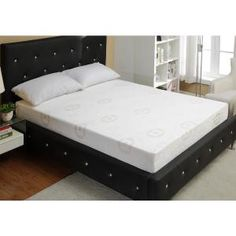 Relax and sleep on your favorite mattress with style in this modern crystal tufted bed and headboard. Express your exquisite taste of design while easily enh. King Size Bed Mattress, Euro Top Mattress, King Size Bed Frame, Queen Mattress, Best Mattress, Foam Mattress, Silver Bedding, California King Mattress