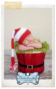 Newborn Photography Props, Newborn baby shower, baby shower gifts, baby gifts, baby girl, baby boy, crochet baby gift, newborn photography, Christmas baby Hats, Christmas baby, santa baby, candy cane baby, christmas newborn  http://huggabeans.bigcartel.com/product/candy-cane-elf-hat