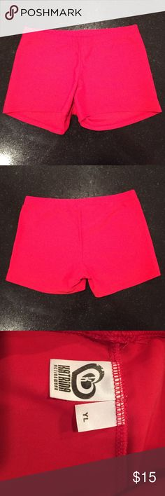 Red gymnastics booty bar shorts child large Katrina Activewear size child large gymnastics booty bar shorts. Red. These are also great for wearing as monkey bar shorts under dresses. Katrina activewear Bottoms Shorts