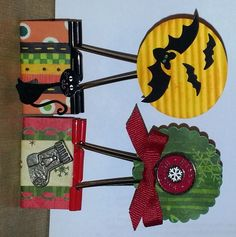 Holiday Style Altered Binder Clips by ajmac - Cards and Paper Crafts at Splitcoaststampers