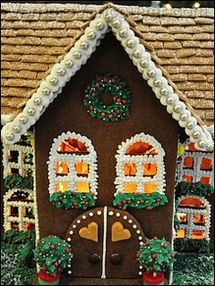 Gingerbread house at the 2011 Hyatt Gingerbread Lane in Vancouver.