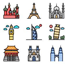 icon packs of building