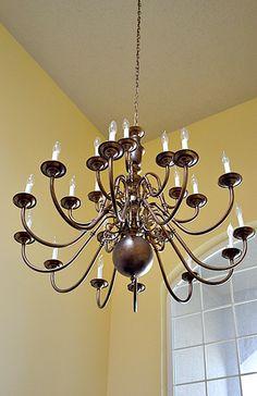 brass chandeliers makeover - Brass Chandelier