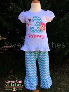 Bubble Guppies Birthday outfit by StitchedsoSweet on Etsy
