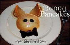Our Easter Breakfast Bunny Pancakes...made with De Wafelbakkers yummy pancakes!