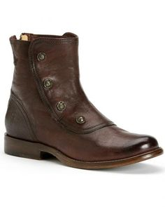 Frye Women's Phillip Military Back Zipper Boots - Round Toe