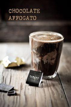 Double Chocolate Ice Cream and staying awake with Chocolate Affogato~ One of Joe's favorite coffee drinks! Death By Chocolate, Chocolate Ice Cream, Chocolate Coffee, Homemade Chocolate, I Love Coffee, Hot Coffee, Frozen Desserts, Frozen Treats, Nutella